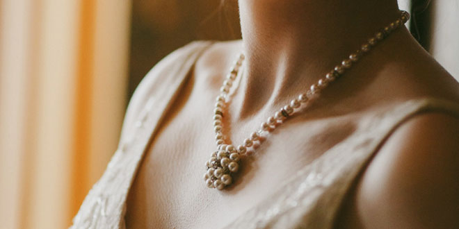 Shimmering Crystal Beaded Bridal Necklace
