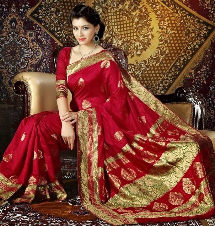 Saree For Typical Keralite Bride