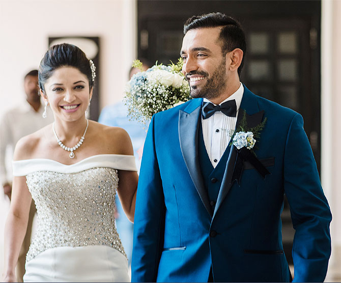 Robin Uthappa marries Sheethal Goutham Photos